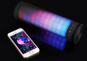 Boxa portabila Bluetooth Stereo cu LED-uri multicolore